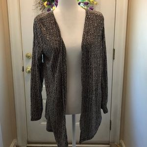 CHARLOTTE RUSSE BLACK OPEN CARDIGAN - XL